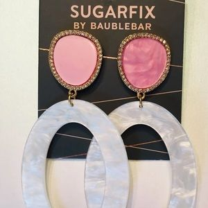 BaubleBar Sugarfix Two Tone Resin Earrings Hoop